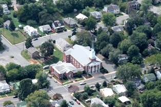 Aerial Shot of Belmont Baptist Church, Charlottesville, VA